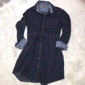 JACHS Girlfriend Printed Shirt Dress EUC M
